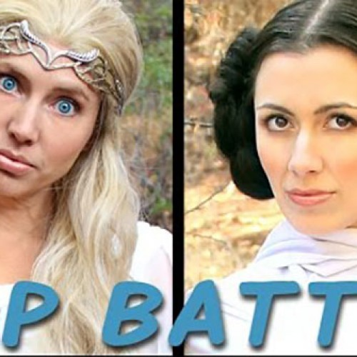 Princess Leia vs. The Lord of the Rings' Galadriel rap battle