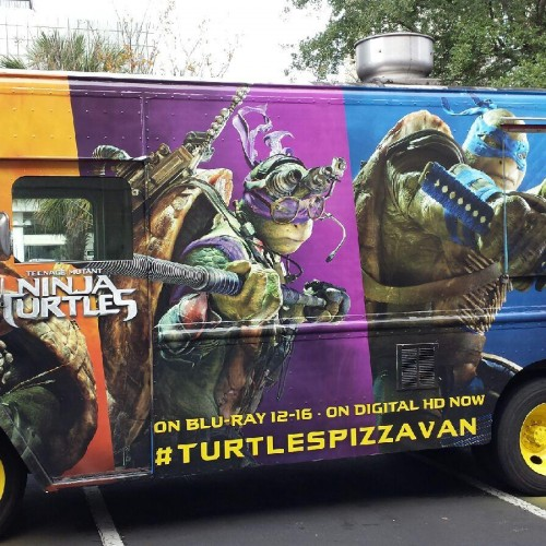 Teenage Mutant Ninja Turtles Pizza Van to visit 10 cities with free pizza for charity