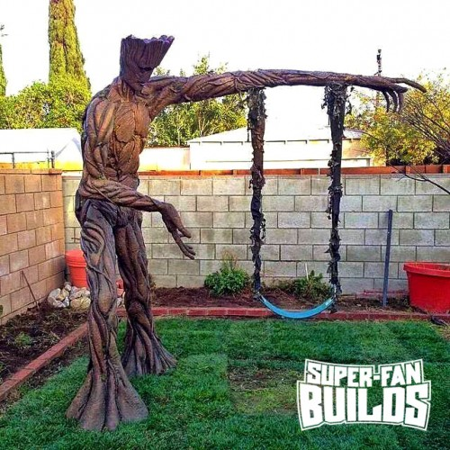 Making the Guardians of the Galaxy Groot swing set
