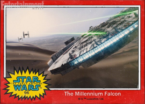 Star Wars Force awakens names millennium falcon