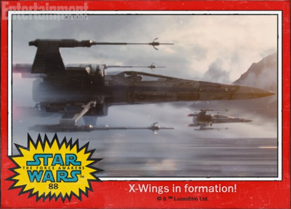 Star Wars Force awakens names x-wing