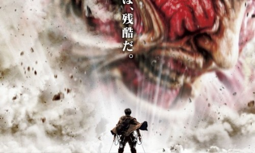 Live-action Attack on Titan movie poster shows a very big Titan