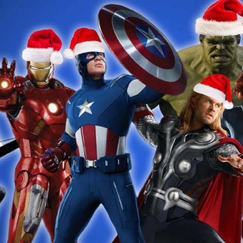 The Avengers sing 'We Wish You a Merry Christmas'