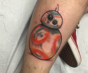 star wars force awakens tattoo droid