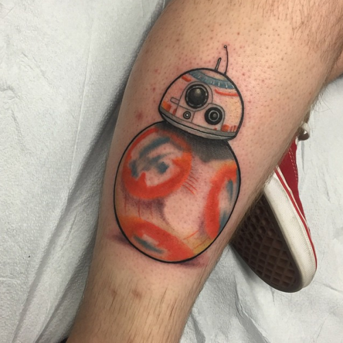 This fan already has a Star Wars: The Force Awakens tattoo