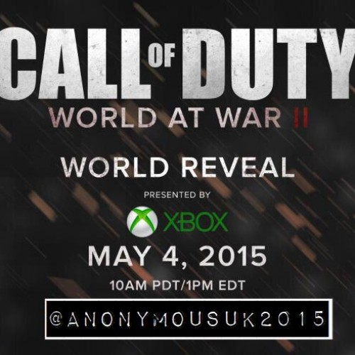 Call of Duty: World at War II announcement leaked?