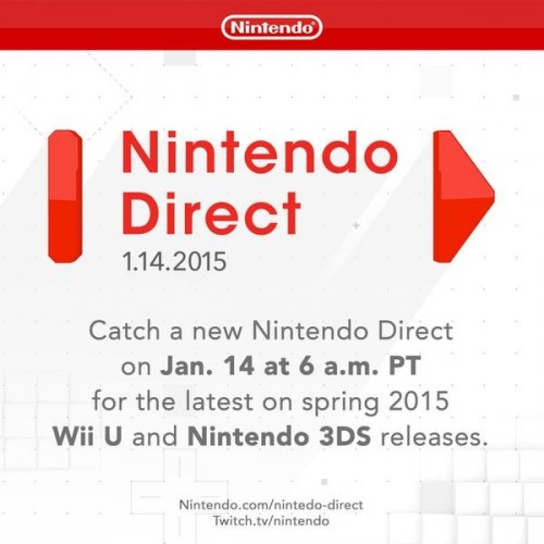 Wednesday's Nintendo Direct to focus on Spring 3DS and Wii U titles