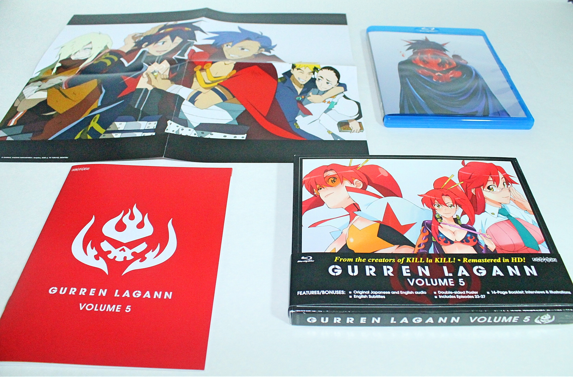 Tengen Toppa Gurren Lagann Vol. 4 & 5 (Blu-ray review ...