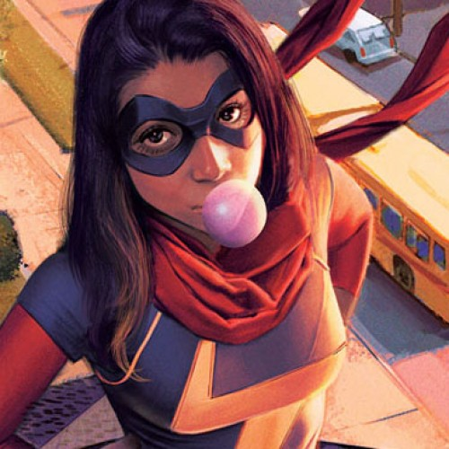 Hate ads being defaced by Ms. Marvel