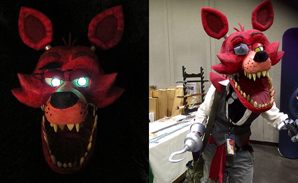 foxy the pirate cosplay & Incredibly terrifying Five Nights at Freddyu0027s Foxy The Pirate ...