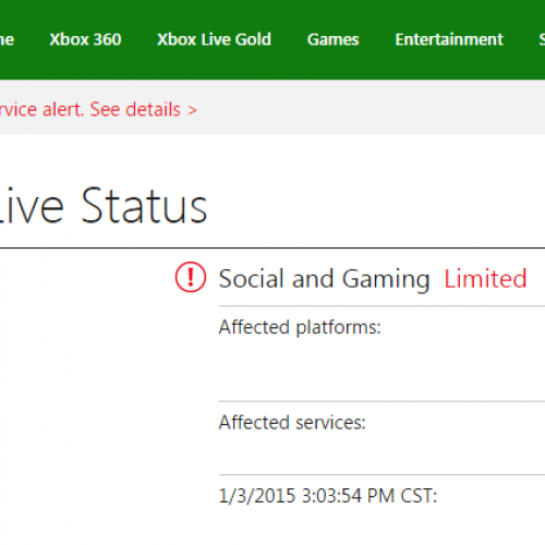 Xbox Live goes down over the weekend