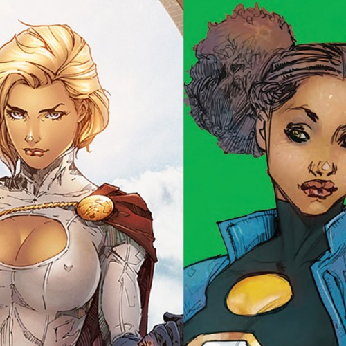 Power Girl loses her cleavage in new outfit