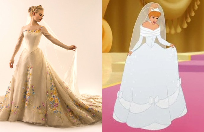 Cinderella Dress Now and Then