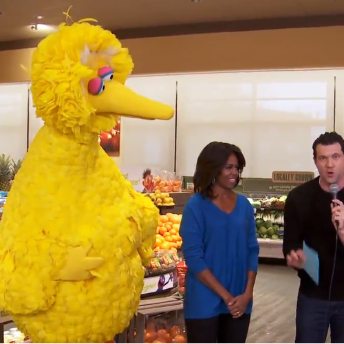 'Billy on the Street with the First Lady and Big Bird
