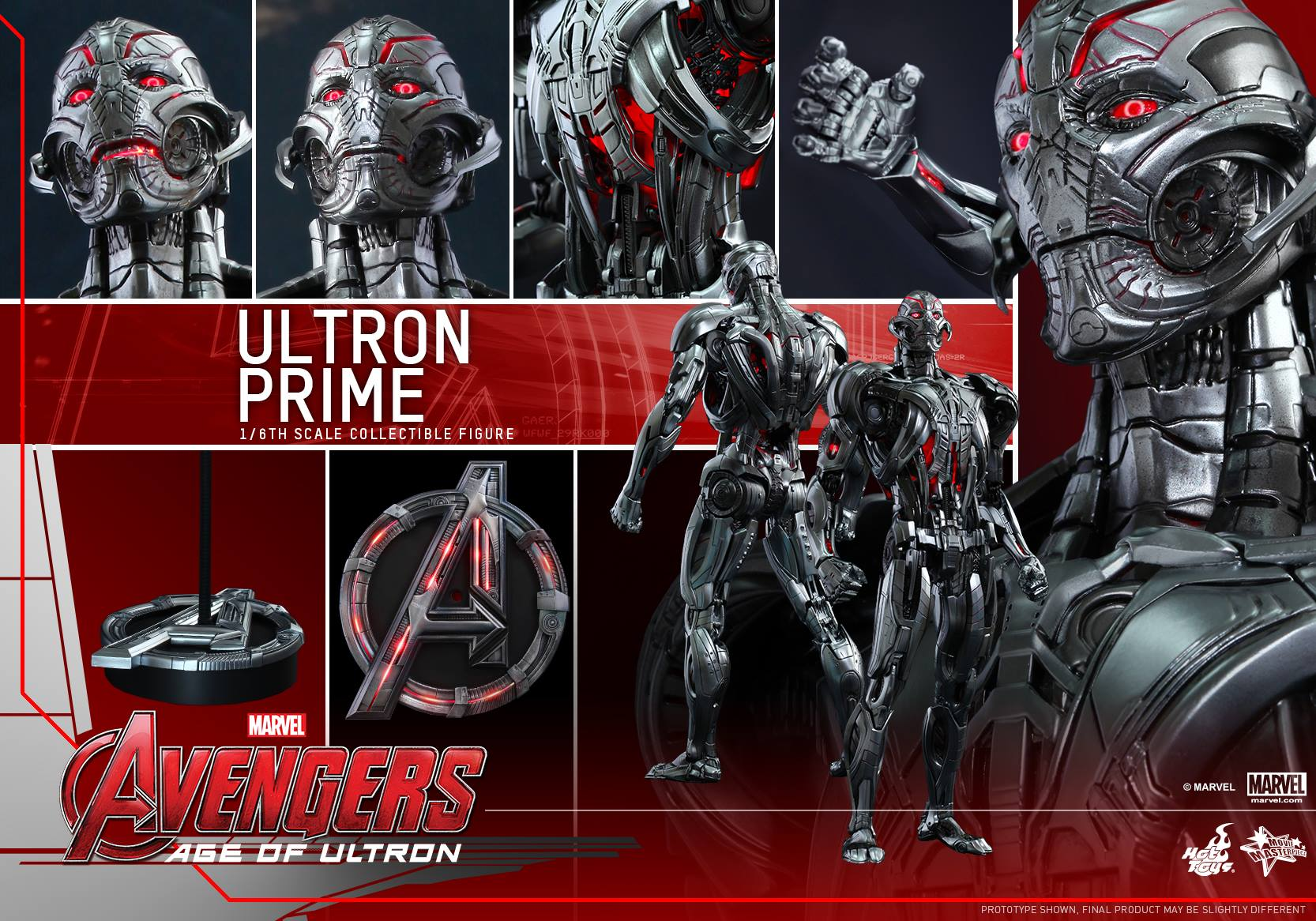 See Ultron Prime in all his detailed glory with Hot Toys' Avengers ...