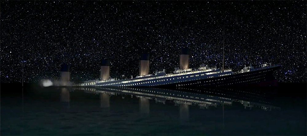 RMS Titanic sinking at...