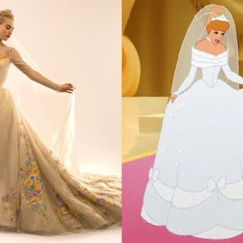 The making of Cinderella's wedding gown