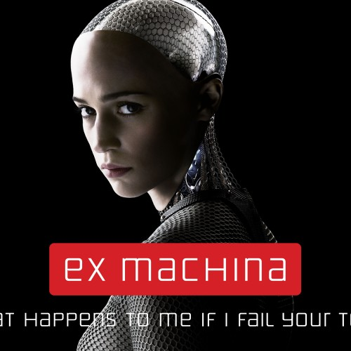 Alex Garland's Ex Machina movie poster revealed