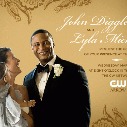 You're invited to Diggle and Lyla's wedding on Arrow March 25