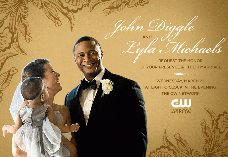 arrow diggle lyla wedding