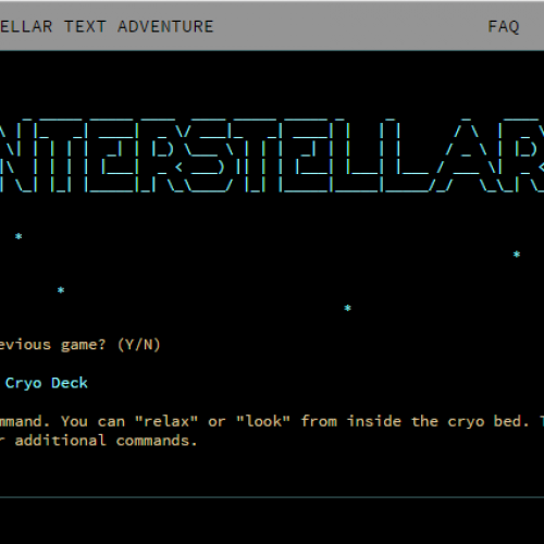 Interstellar Text Adventure is out of this world