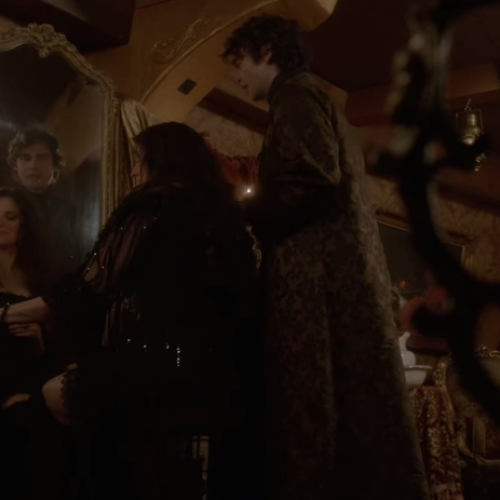 Salem features a new clip with Lucy Lawless and Joe Doyle