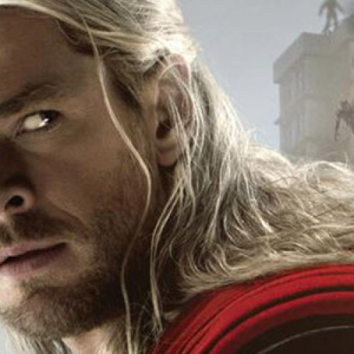 Chris Hemsworth is ready for action as Thor in his Avengers: Age of Ultron poster
