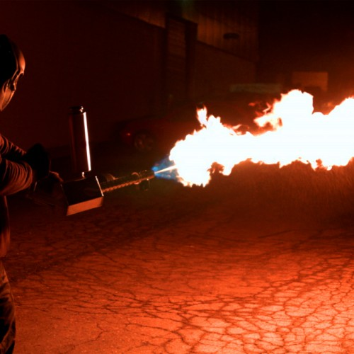 Does your zombie apocalypse plan include a flamethrower?