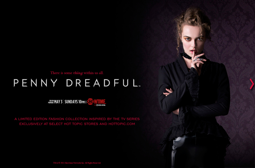 Hot Topic releases Penny Dreadful line | Nerd Reactor: nerdreactor.com/2015/04/28/hot-topic-releases-penny-dreadful-line