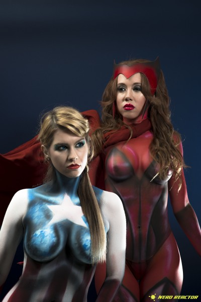 Avengers Captain America Scarlet Witch Photoshoot - 04