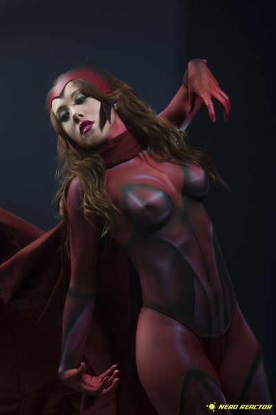 Avengers Captain America Scarlet Witch Photoshoot - 06