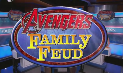 The Avengers play Family Feud on Jimmy Kimmel Live
