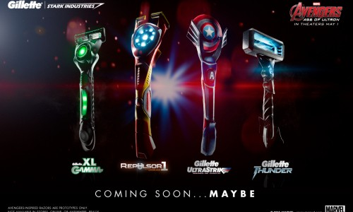 Gillette sends us a locked Avengers: Age of Ultron case that reveals Avengers-inspired razors