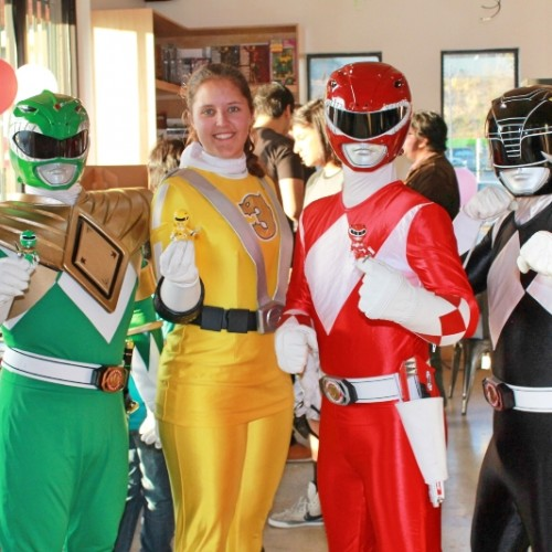 Fans gather for Mighty Morphin Power Rangers action vinyl launch event in LA