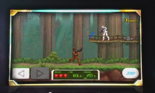 If Star Wars' Chewbacca had a Contra-like game, this would be it