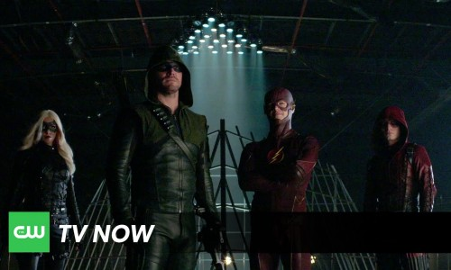 The first rule of superhero fight club… you release a video featuring Arrow and The Flash