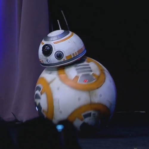 BB-8 droid and the cast show up at Star Wars Celebration