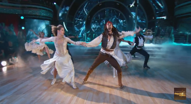 dancing with the stars captain jack sparrow pirates of the caribbean