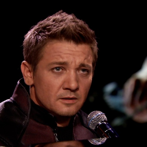 Jeremy Renner sings and plays piano as Hawkeye on Jimmy Fallon