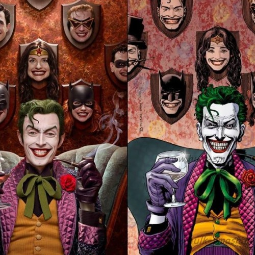 Brian Bolland's Joker trophy wall gets an accurate cosplay photo