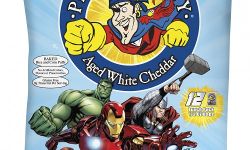 Marvel Avengers-themed Pirate's Booty Aged White Cheddar