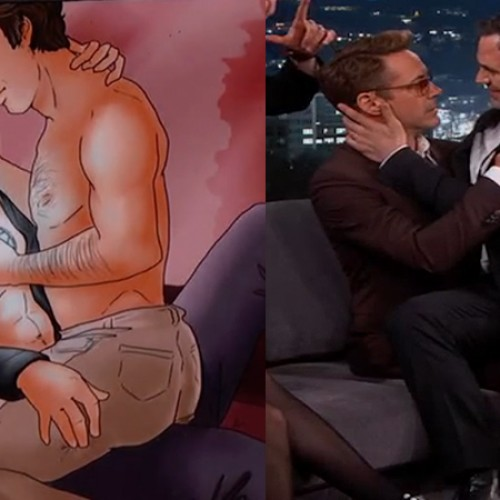 Robert Downey Jr and Mark Ruffalo reenact 'Science Bros' meme on Jimmy Kimmel