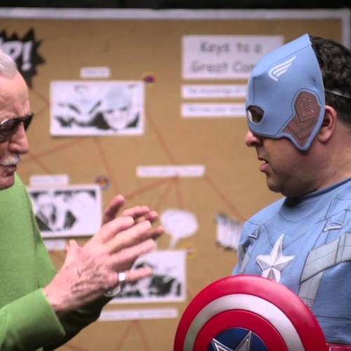 Stan Lee teaches cameo acting to 'real actors'