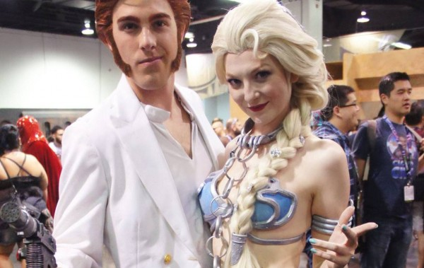 star wars frozen han elsa leia