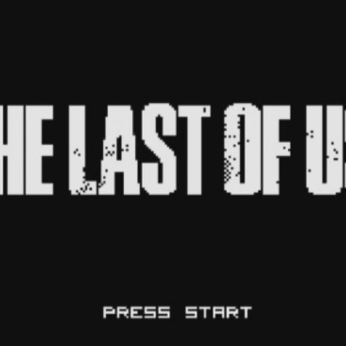 The Last of Us opening as an 8-bit game