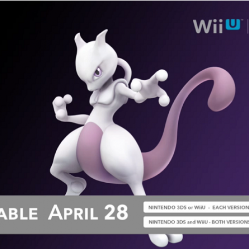 Mewtwo joins Super Smash Bros. on April 28