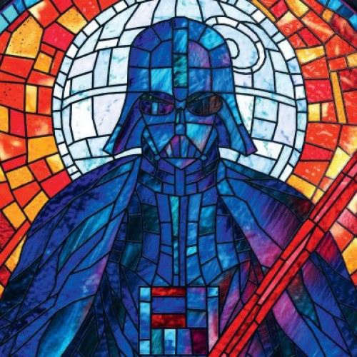 Darth Vader CG stained glass window