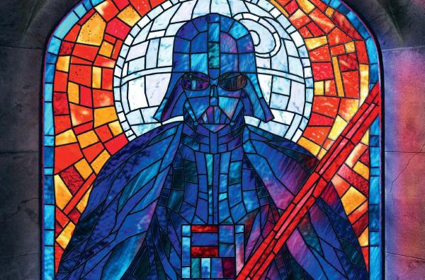 Darth Vader Cg Stained Glass Window Nerd Reactor