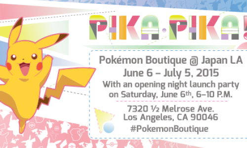 Special Pokémon Boutique opening in Los Angeles from June 6 to July 5