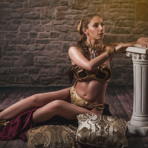 AlyCat Cosplay as Slave Leia